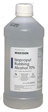McKesson- Isopropyl Alcohol 16 oz.